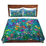 DiaNoche Designs This Is Home Cover Brushed Twill Twin, Queen, 8 King Duvet Sham Set