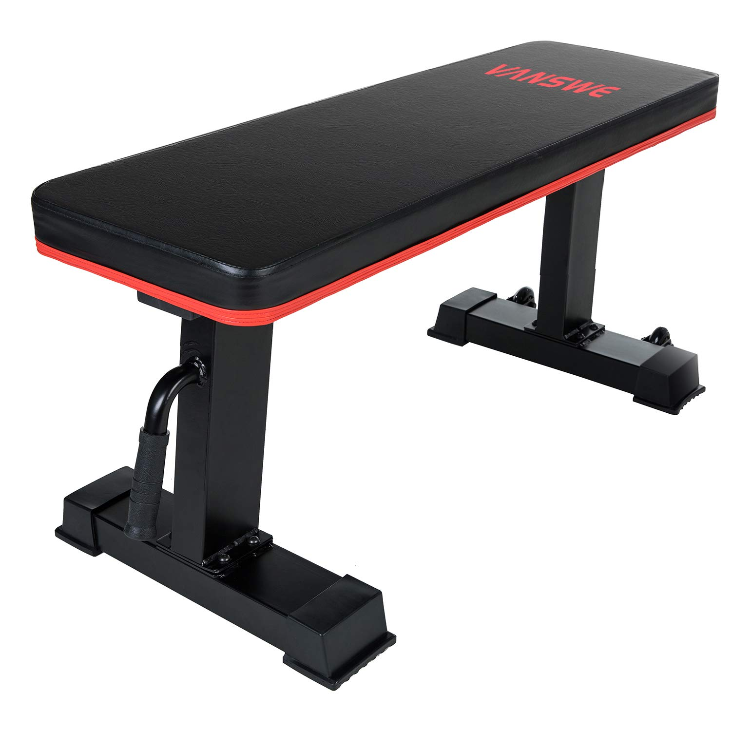 Vanswe Flat Bench 1000lbs Workout Utility Exercise Flat Weight Bench Press for Home Gym Fitness Weight Lifting Training by Vanswe