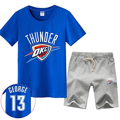 LLSDLS Camiseta NBA Set de Hombre Thunder Basketball ...