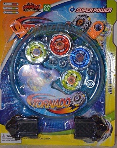 Kids Metal Fusion Beyblade Clash Tornado Speed Toy Game Set