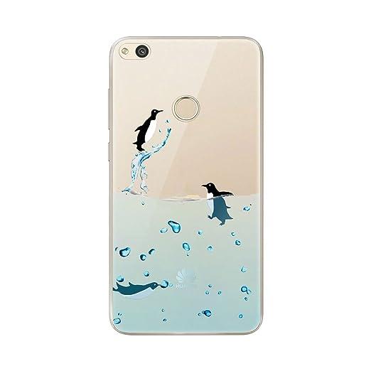 18 opinioni per Cover Huawei P8 Lite 2017, AILRINNI Silicone Custodia Trasparente Morbida Case
