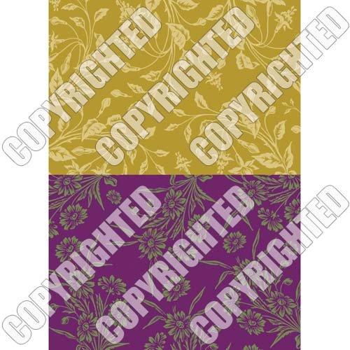 (Nunn Design Transfer Sheet Wheat/Violet Floral for Scrapbook -Fits Patera)