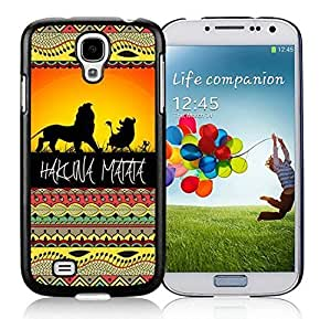 Colorful Samsung Galaxy S4 Case Elegant on Sunset Lion King Soft TPU Rubber Black Cell Phone Cover Accessories