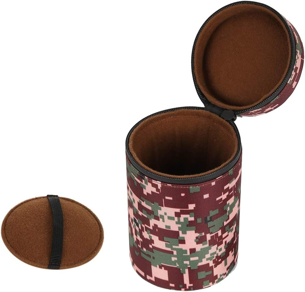 Blue Soft Protective Cover Color : Brown Size: 16x10x10cm Goodao Camouflage Color Large Lens Case Zippered Cloth Pouch Box for DSLR Camera Lens
