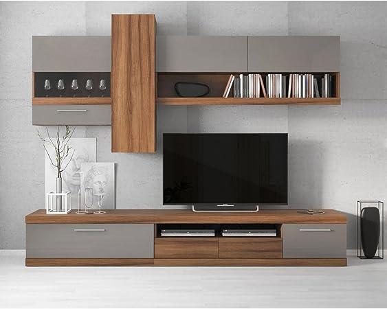 Just Home - Mueble de salón modular Laitalio- 260 x 200 x 44,2 cm (l x a x p). Varios colores: Amazon.es: Hogar