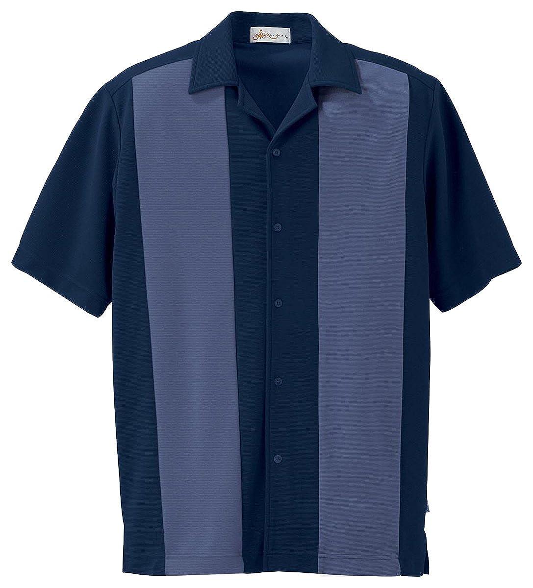 87017 Men's Ottoman Color-Block Camp Shirt Ash City Vintage M10624