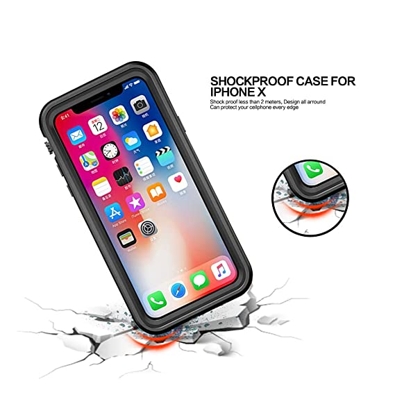 Amazon.com: Red Pepper for iPhone XS Waterproof Case for iPhone X Full Sealed Shockproof Cover Pouch Shell with IP68 Certified Clear 5.8 inch (Black): Cell ...