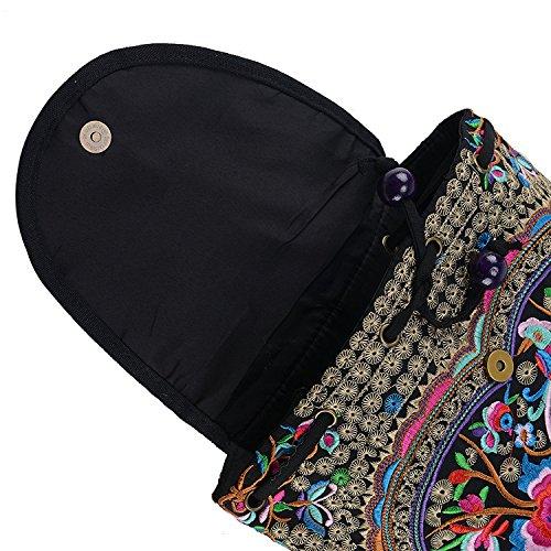 Bordado de de Mano de Hecho la Mochila la Mochila OFKPO étnico del del Las Bolso Flor la Viaje de Mujeres a xUaWzWn