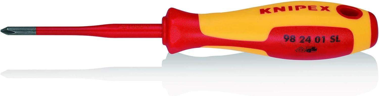 KNIPEX 98 24 01 SL Tournevis Slim pour vis /à t/ête cruciforme Phillips/® 187 mm