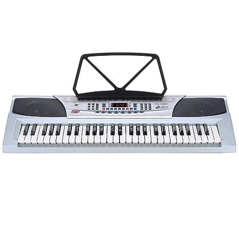 Andoer® 54 Claves Multifuncional Enseñanza-Tipo de Teclado Electrónico Pantalla LED Órgano Electrónico Piano