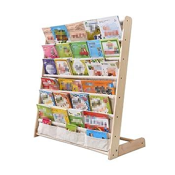 Amazon.de: Li Li Na Shop Bücherregale Kinder Bücherregal Massivholz ...