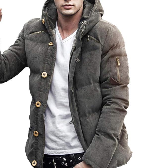Cappotto Uomo Inverno CLOOM,Uomo Autunno Inverno Colore Puro