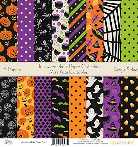 Pattern Paper Pack - Halloween Night - Scrapbook Premium SpecialtyPaper Single-Sided 12