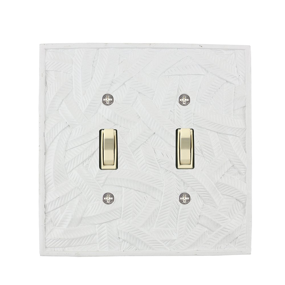Meriville Island 2 Toggle Wallplate, Double Switch Electrical Cover Plate, Off White