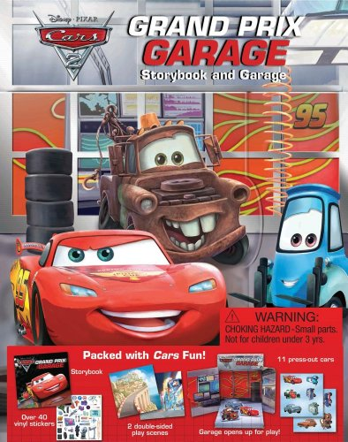 Cars 2 Grand Prix Garage (STORYBOOK AND PLAYSET)