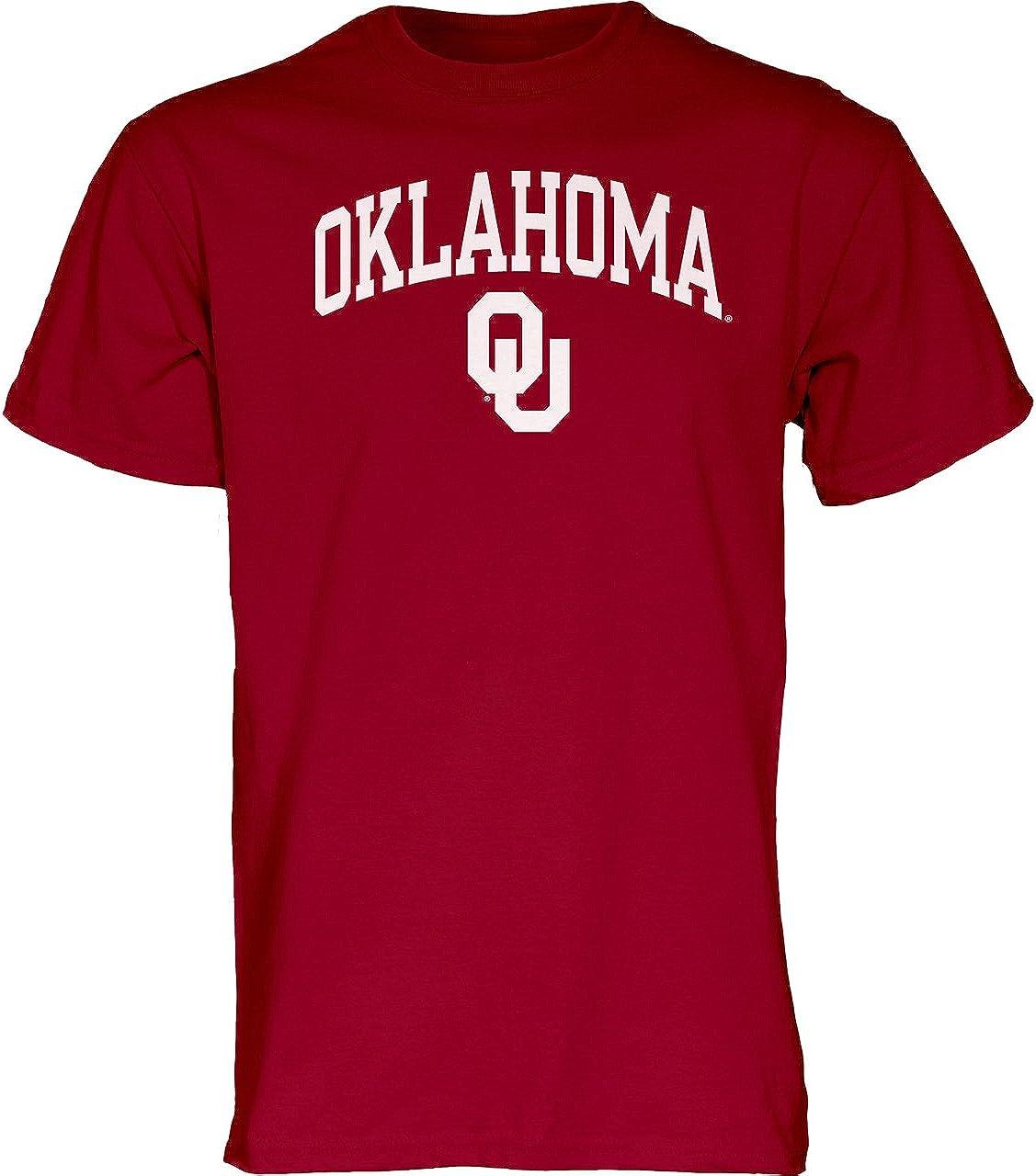 XX-Large Cardinal Blue 84 Oklahoma Sooners Adult Arch Logo T-Shirt