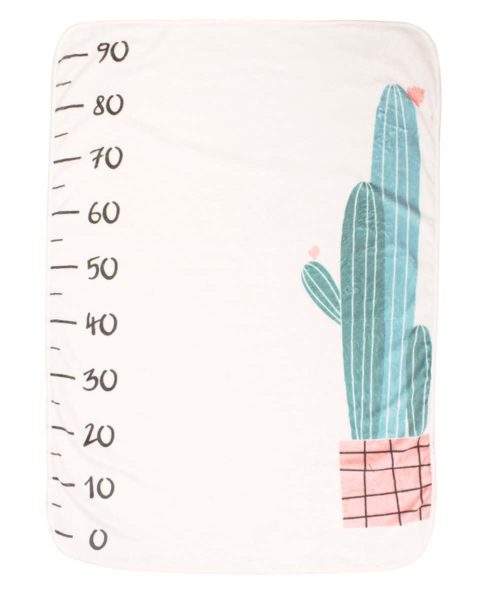 belababy Baby Milestone Blanket -40x30- Boy or Girl Newborn Show Monthly Growth Personalized Photo Cactus Backdrop Prop