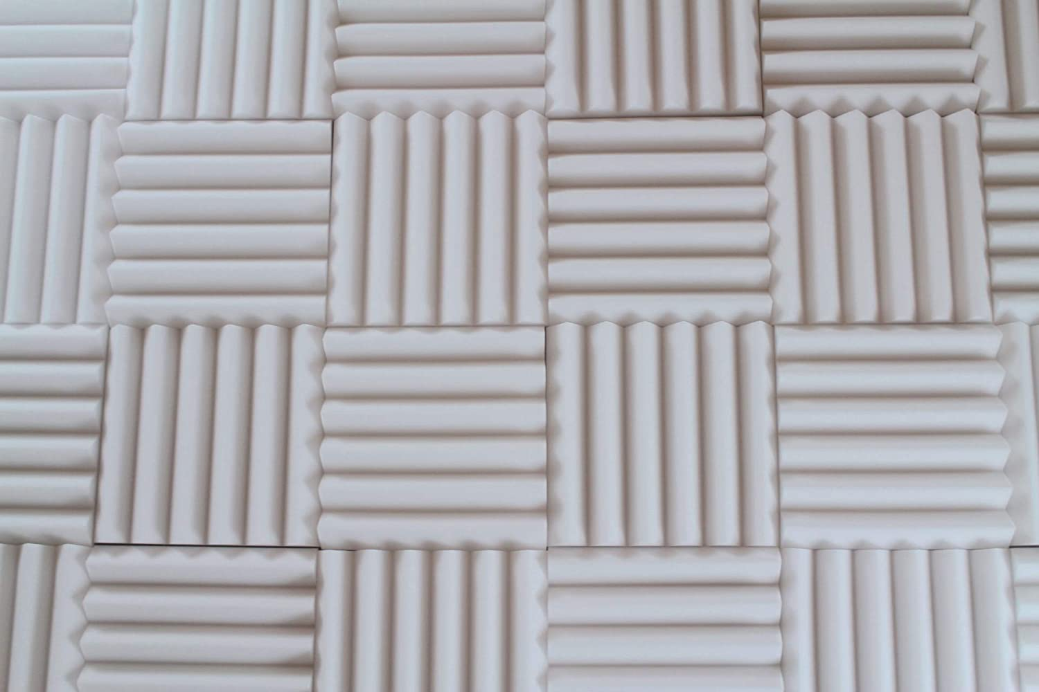 White Acoustic Foam Panels - Wedge Style Studio Foam Soundproofing Tiles - 12x12 Inch - Multiple Thicknesses (2 Inch Thick - 4 Pack)