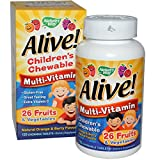 Nature's Way Alive Children's Multi-Vitamin Chewableable Tablets, 120 Count , Pack of 4