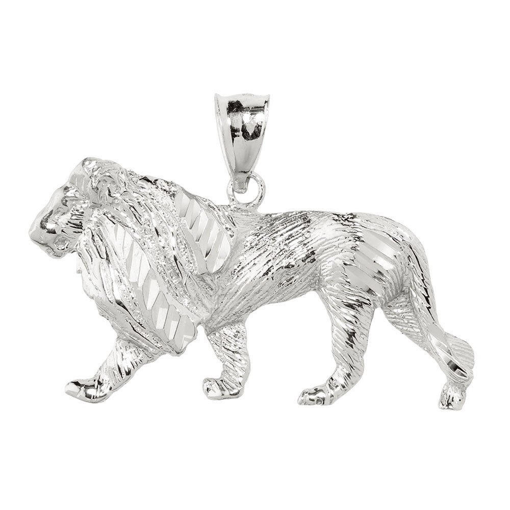 Men's 925 Sterling Silver Lion Necklace Pendant by Men's Fine Jewelry (Image #1)