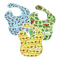Bumkins Waterproof SuperBib 3 Pack, SN4 (Dr. Seuss Cat in the Hat/Green Eggs/...