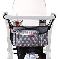 Nouveau Bébé Enfant Poussette Console Organisateur Double porte-gobelet momie sacs pochette la