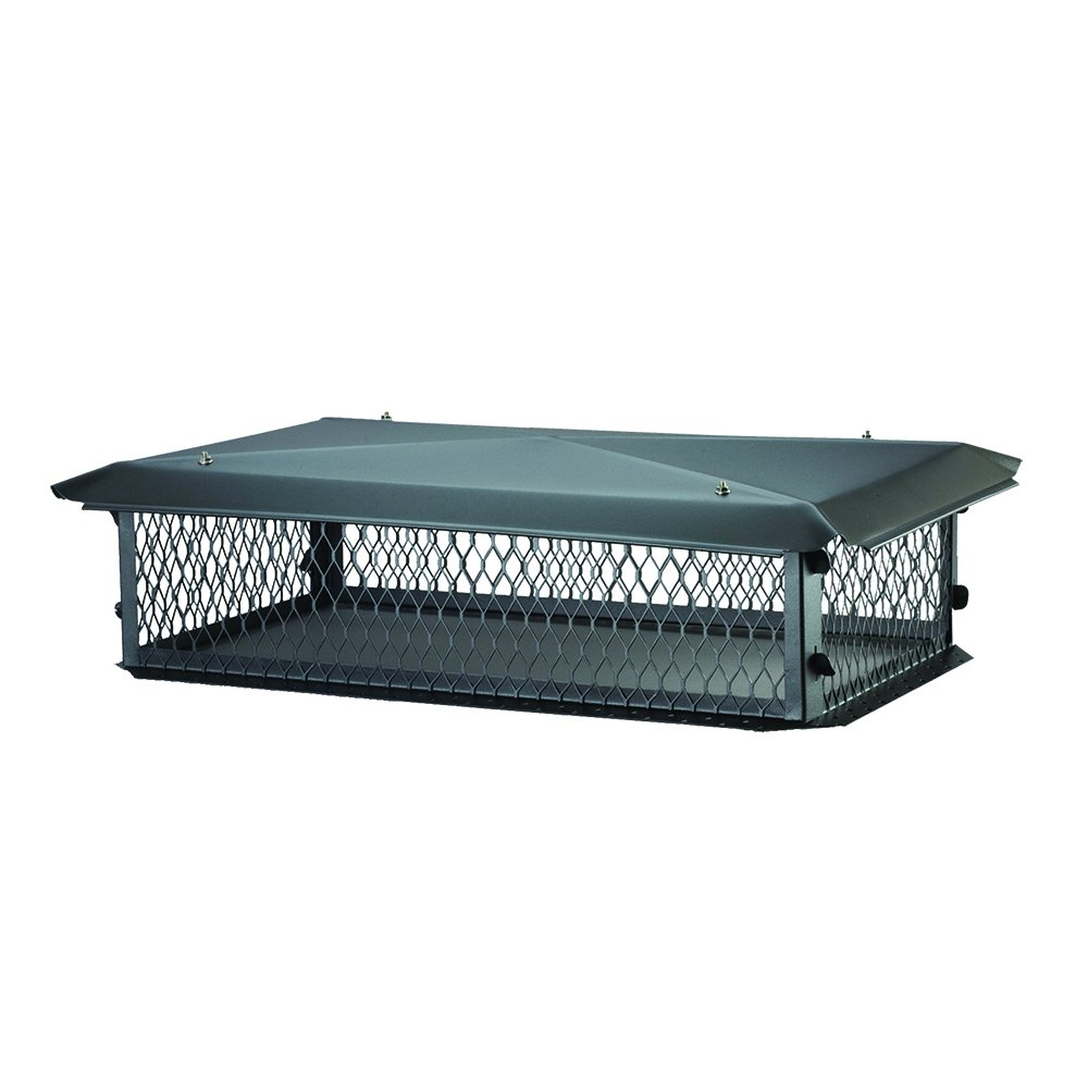 BigTop BBT1729K Chimney Cover in Black Galvanized Steel, 8'' x 17'' x 29''