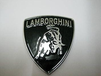 Lamborghini Label Picture Silver Color Auto Car Emblems