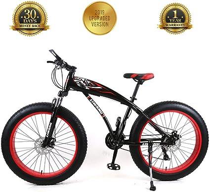 TBAN Moto De Nieve, Bicicleta De Montaña, Llanta Ancha, Freno De Disco, Bicicleta De Estudiante con Amortiguador, Ruleta Seleccionada,24inch7speed: Amazon.es: Deportes y aire libre