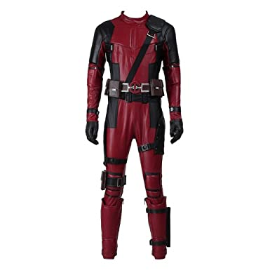 mens dp movie cosplay costume deluxe full body suits leather jumpsuit outfit halloween costumes male 2xl