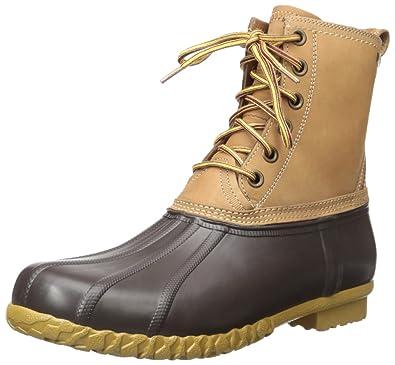 c4a08208f05 G.H. Bass & Co. Men's Dixon Rain Boot, Dark Tan/Brown, 12 M US ...
