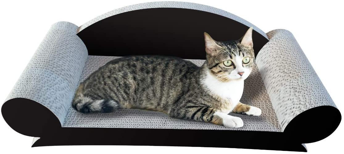 TOUCH-LOVFIN Cat Scratcher Cardboard,Cactus Cat Scratch Lounge & Cat Scratching Pad with Durable Corrugated Bed for Cats