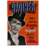 Hallmark Birthday Card For Brother 'Mister Bum Face' - Medium