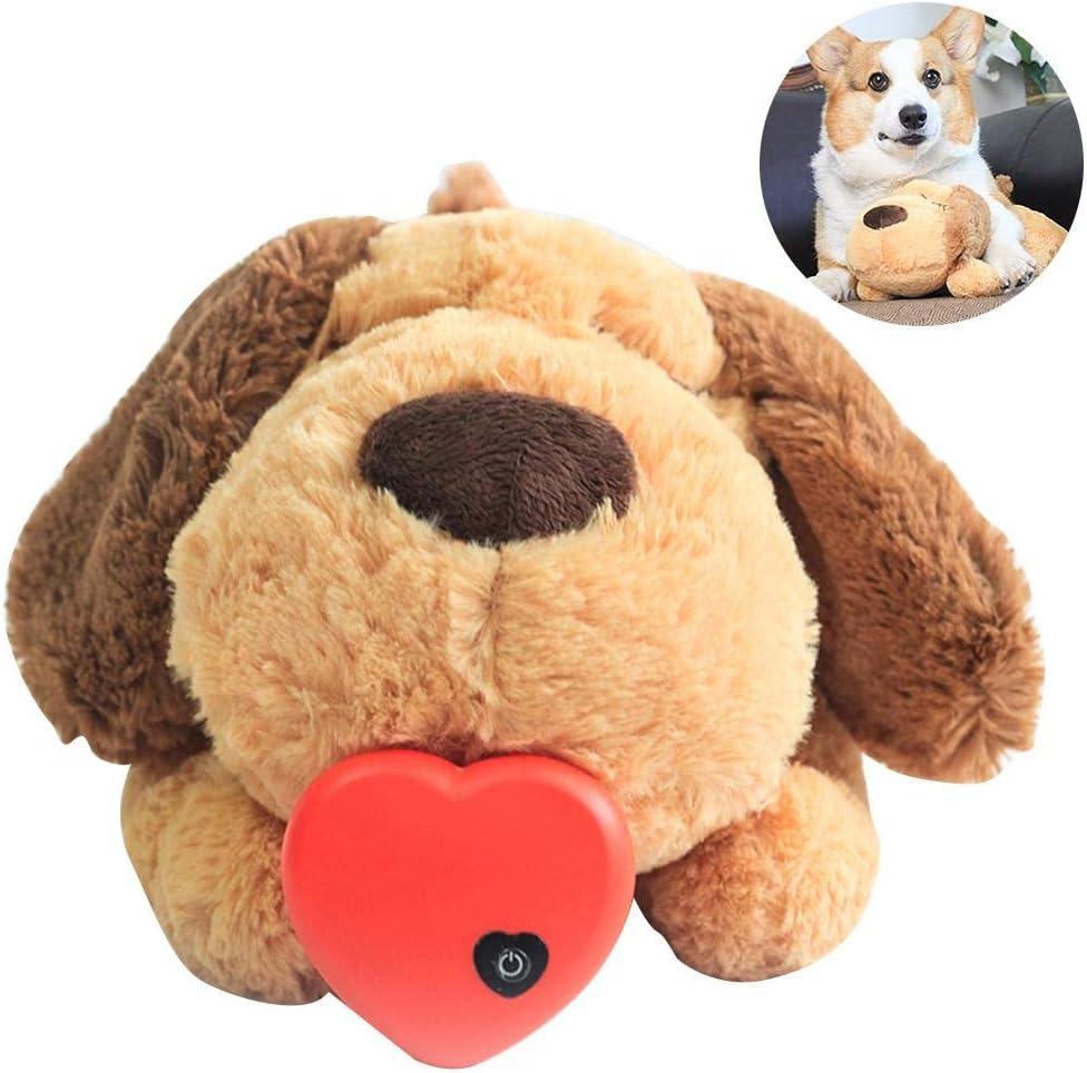 Juguete de peluche para mascotas Juguete para perros Latido corazón Juguete relajante Acompaña el sueño Gato Muñeca de juguete Apacigua / Acompaña / Alivia la ansiedad por estrés de la mascota, etc.