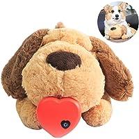 Knuffel voor puppy, Knuffel met hartslag, Comfortabel speelgoed voor gedragstraining, Hondenspeelgoed Rustgevende pluche…
