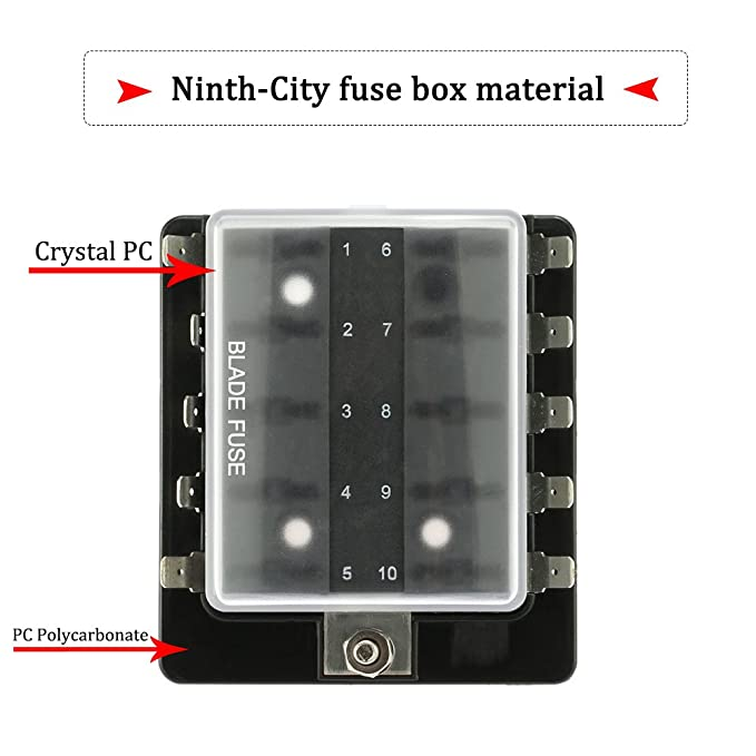 amazon com ninth city 10 circuit led fuse block and cover kit car rh amazon com AMG Fuse Bussmann Fuse Holder