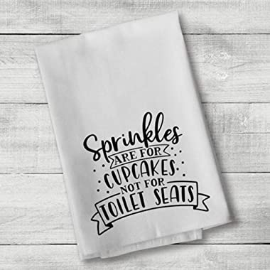 Sprinkles are for Cupcakes Hand Bath Towels Washcloths Multipurpose Bathroom Towel for Hand, Face, Gym and Spa White 17x 35 Inch(35x75cm) Color:Sprinkles are for Cupcakes