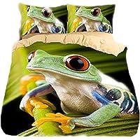 Helengili 3D Digital Printing Bedding Set Frog Polypedatid Rosnicka Bedding Bedclothes Duvet Cover Sets Bedlinen 100 Percent Microfiber Present