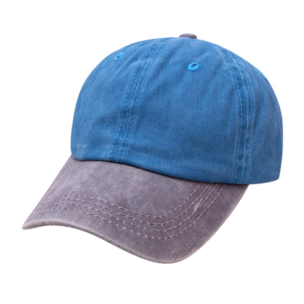 Tanlo 2019 Women Men Unisex Summer Outdoors Denim Visor Baseball Cap Adjustable Hat (Sky Blue, One Size)