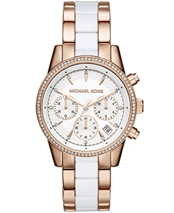 f8bb430742ca Amazon.com  Michael Kors Women s Ritz Rose Gold-Tone Watch MK6324 ...