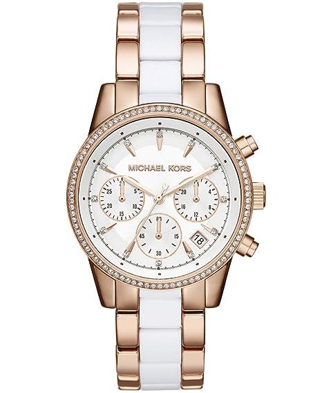 Michael Kors Reloj analogico para Mujer de Cuarzo con Correa en Acero Inoxidable MK6324