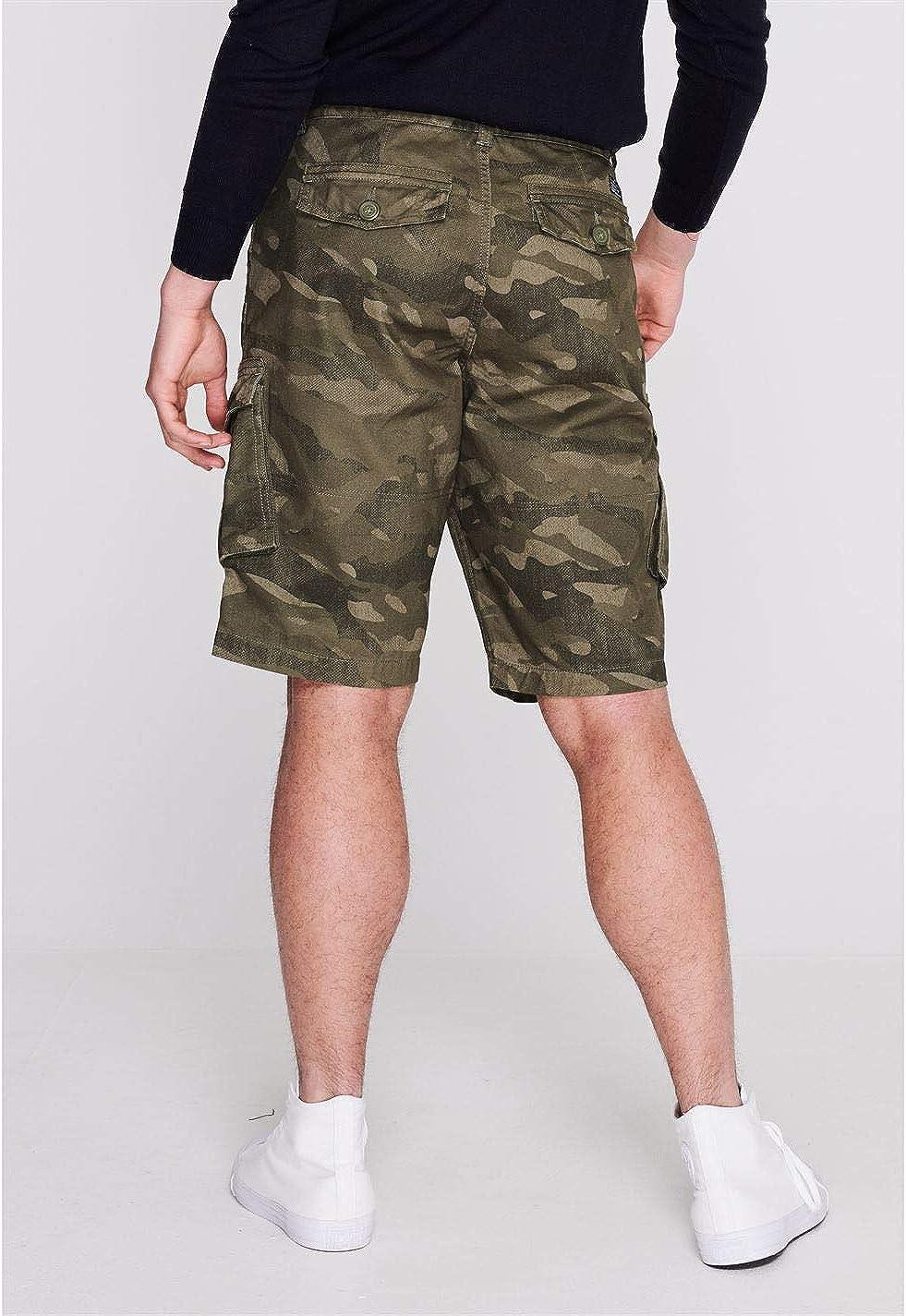Firetrap Mens BTK Shorts Cargo Pants Trousers Bottoms Cotton