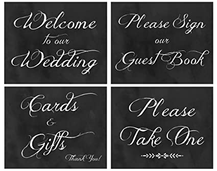 2 City Geese Wedding Signs