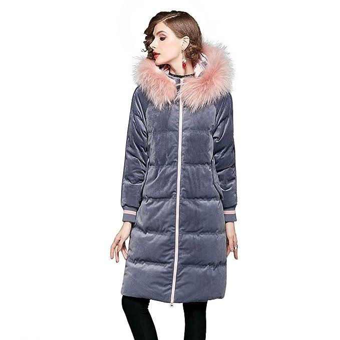SIMPLE Chaqueta de plumón para mujer Abrigo de alta densidad a prueba de viento Con capucha Mantenga un diseño cálido Ideal para caminar en clima frío: ...