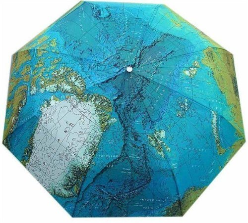 Fashion creative automatic open map umbrella seventy percent off folding world map umbrella gift customization