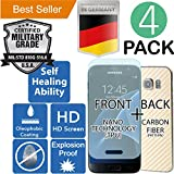 Samsung Galaxy S7 [5.1] 4Pack [FULL BODY COVERAGE] Clear [TPU Self Healing] Elasticity [Military Grade] Screen Protector [Explosion Proof] HD [Shock Absorbent] Armor [Anti Scratch]