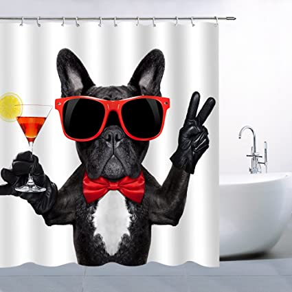 Bulldog Like Gentlemen Shower Curtain