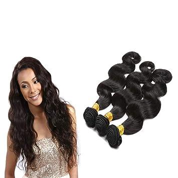657e8a380 ESSVIGANT Dyeable Human Hair Extensions Brazilian Virgin Natural Color,3 pcs/lot  Body Wave