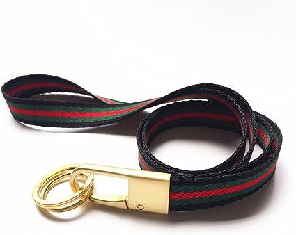 Lanyard Home - Correa para el cuello de tela resistente, color Negro/Verde/Rojo: Amazon.es: Oficina y papelería