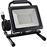 GLORIOUS-LITE 50W LED Work Light, 5000LM Super Bright Flood Lights, 400W Equivalent, IP66 Waterproof, 16ft/5m Cord with…